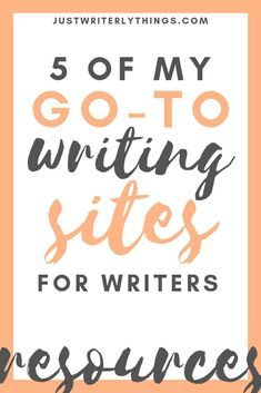 Writing resources are severely needed to stay on track when you're writing. Check out these top 5 writing resources for your next project. Writing Sites, Writing Advice, Writing Resources, Writing A Book, Writing Prompts, Writing Images, Writing Notebook, Editing Writing, Persuasive Writing