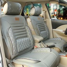 Luxurious Stylish PU Leather and Deluxe Fashion Universal Car Seat Covers on sale, Buy Retail Price Car Seat Covers at Beddinginn.com