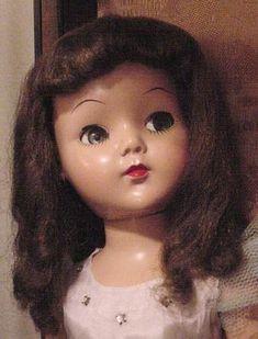 hard plastic vintage doll