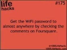 wifi passwords on foursquare.