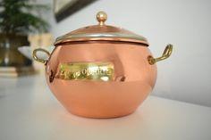 Copper Potpourri Holder - Copper Incense Holder - Copper Incense Burner - Copper Succulent Planter - Copper Planter - Vintage Copper Jar