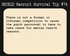 Shield recruit survival tip #74