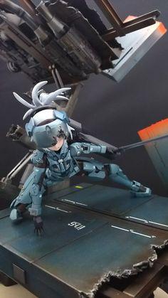 Imagen insertada Action Toys, Action Figures, Anime Figures, Anime Characters, Frame Arms Girl, Lego Mecha, Gunpla Custom, Miniature Figurines, Figure Model