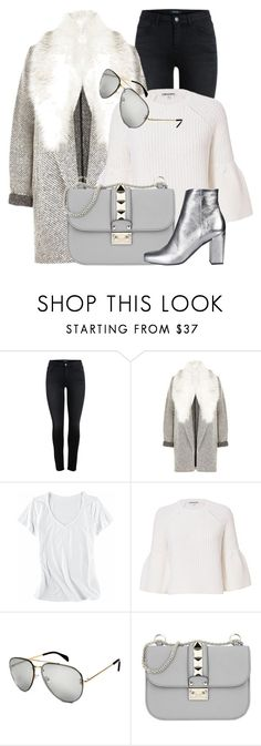 """Stil"" by monmondefou ❤ liked on Polyvore featuring River Island, Horny Toad, Elizabeth and James, CÉLINE, Valentino, Yves Saint Laurent and gray"