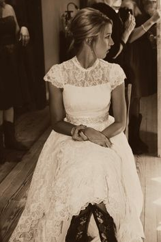beautiful country wedding dress