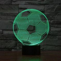 MELBOURNE DEMONS FOOTBALL 3D Acrylic LED 7 Colour Night Light Touch Table Lamp