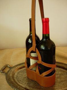 leather wine carrier