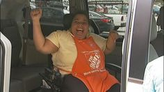 Alicia Day in her new van.    A DeKalb woman with cerebral palsy is getting some help from a celebrity filmmaker after he saw a Channel 2 Action News report about her van being stolen.  Atlanta-based media mogul Tyler Perry called Channel 2 and said he wanted to give Alicia Day a brand new van, just minutes after seeing her story air Monday afternoon.