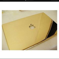 Mac laptop with gold case