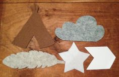 6 ft Custom Wool Felt Teepee Feather Garland by blackdogcircus