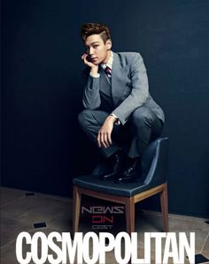 Not the best photo set taken of T.O.P but still suave looking .