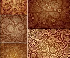 New patterns to learn how to draw All Free Vector, Free Vector Graphics, Vector Art, Web Design, Graphic Design, Paisley Pattern, Learn To Draw, Pattern Wallpaper, Design Elements