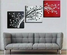 Multi Canvas Painting, 3 Piece Canvas Art, Canvas Painting Tutorials, 3 Piece Wall Art, Canvas Wall Art, Triptych Wall Art, Tableau Design, Wall Art Pictures, Painting Inspiration
