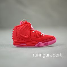 Air Yeezy 2 OCTOBER RED Key Chain