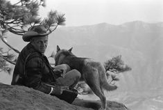 Steve McQueen with dog