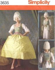 Haunt ingly Romantic Ruffled top dress PATTERN Simplicity 2163 Arkivestry 6-22