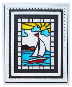1/27/18.  PartiCraft (Participate In Craft): Sailboat Stained Glass