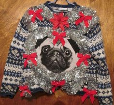 Pug & Frenchie Ugly Christmas Sweater | Cool | Pinterest | Pug ...