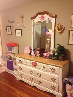 Same old furniture in a new light...decals are fun!!