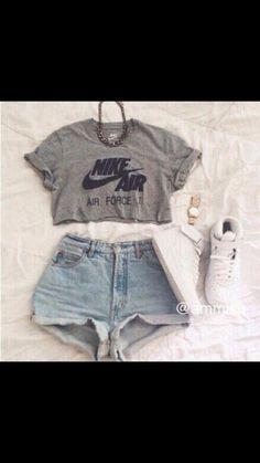 t-shirt nike nike air force 1 grey t-shirt shorts shoes jewels Nike e94563c9d