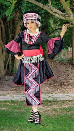 nalisfashion.com Hmong Clothing Pink Outfit 14 - $120