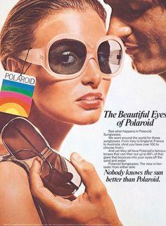 1970s Polaroid sunglasses advertisement.