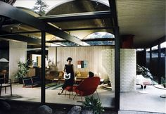 Case Study House #20. Designed by Conrad Buff, Calvin Straub, and Donald Hensman. This house was built in 1947 for Saul Bass and is located in Altadena, California.