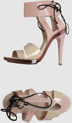 high heeled sandal by chloe Nude Heels, High Heels, Heeled Sandals, Shoes Sandals, Chloe Shoes, Kinds Of Shoes, Ankle Strap, Shoe Boots, Pink