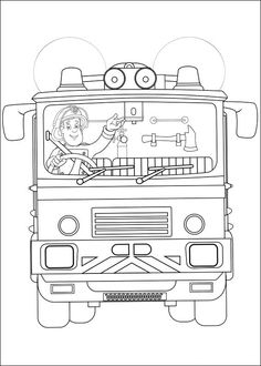 Tegninger til Farvelægning Brandmand Sam 27