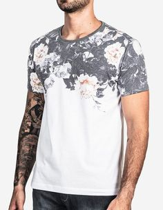 T-SHIRT BLACK FLOWER SUPERIOR