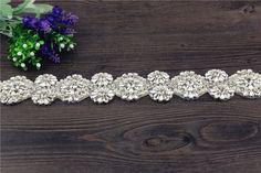 1 Yard DIY Wedding Applique bridal rhinestone crystal applique trim *** To view further for this item, visit the image link.