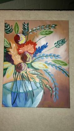 Acrylic painting with cinnamon cooney