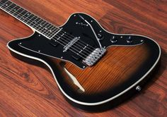 Halo TJ 6 Semi-Hollow with Seymour Duncan Vintage P90 Humbuckers, Lace Pickups Alumitone and Hipshot Products Inc US Contour Tremolo Now