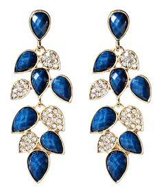 Blue Lapis & Crystal Milly Drop Earrings