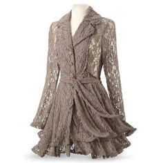 Taupe Lace Jacket - New Age, Spiritual Gifts, Yoga, Wicca, Gothic, Reiki, Celtic, Crystal, Tarot at Pyramid Collection