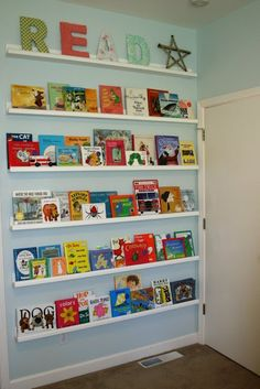Shelving for kids' books.