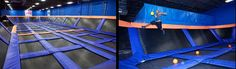 Sky Zone Indoor Trampoline Park! So cool!!! The entire building is covered in trampolines!!!!! We gotta go there!!!