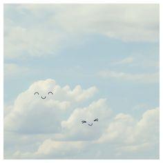 kawaii clouds instagram @cestmaria #kawaii #clouds #happy