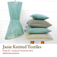 regram Janie Knitted Textiles creates luxurious and Visit their studio during Christmas Art, Christmas Shopping, Factory Design, Art Market, Knitwear, Events 2016, Textiles, Luxury, Gallery