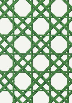 CYRUS CANE, Emerald Green, T13140, Collection Summer House from Thibaut