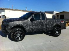 Moonshine Harvest Moon camo pattern looks awesome! Order your vinyl wrap kits at www.CamoMyRide.com