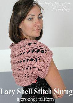 Lacy Shell Stitch Shrug Crochet Pattern | Ashlee Marie