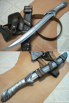 Altair's short knife from Assassin's Creed Swords And Daggers, Knives And Swords, Assasins Cred, Assassins Creed Cosplay, Armas Ninja, Gijinka Pokemon, Fantasy Weapons, Firearms, Guns