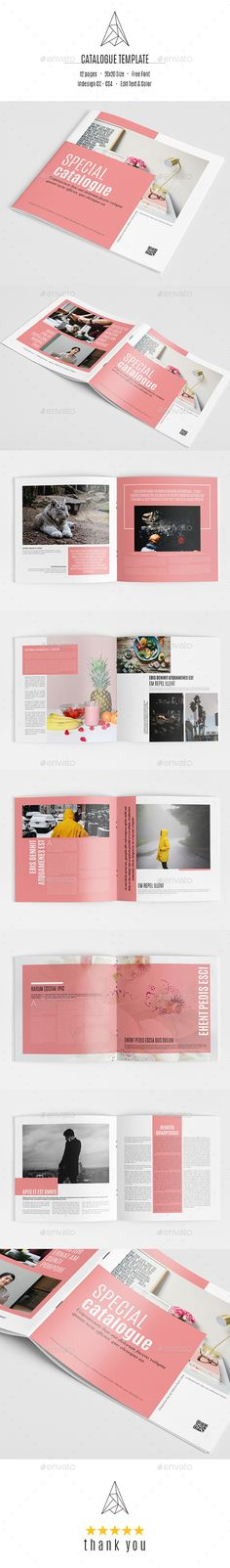 This brochure is an ideal way to showcase your business in an original way. It is a horizontal design, available in paper formats. It contains 12 pages, which you can duplicate or reduce, and its minimal and modern design makes it easy to customize and adapt in InDesign.. search tag: #Special Catalog - #Catalogs #Brochures