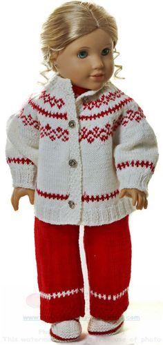 Tricot pour poupees - Superbes vêtements de poupée au tricot à motifs vintage