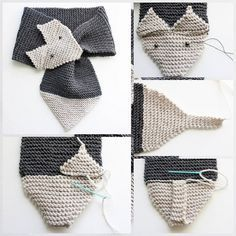 Discover thousands of images about Gina Michele: Fox Scarf [knitting pattern- women & child sizes]Checked your wardrobe for the presence of heat knitted scarves? One of many standard developments - scarf-fox knitting needles, isThis Pin was discovere Baby Knitting Patterns, Knitting Stitches, Hand Knitting, Crochet Patterns, Knitting Needles, Fox Scarf, Hand Knit Scarf, Diy Crafts Crochet, Crochet Fox
