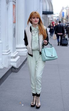 Bella Thorne looks amazing in this outfit!! Love it!!!