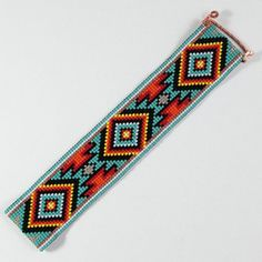 Jemez Bead Loom Bracelet Bohemian Boho Artisanal Jewelry Indian Style Western…