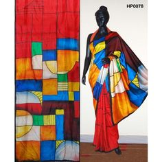 Bankura (bishonpur) Silk Hand Painted Saree. MADE on ORDER. 4 WEEKS DELIVERY 1df8616a522