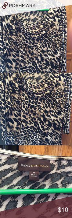 "XL print top Dana Buchman long sleeve XL print top approx 26"" from shoulder Dana Buchman Tops Tees - Short Sleeve"